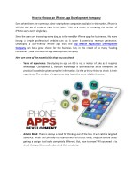 How to Choose an iPhone App Development Company