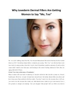 """Why Juvederm Dermal Fillers Are Getting Women to Say """"Me, Too"""""""