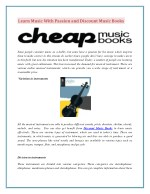 Learn Music With Passion and Discount Music Books