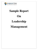 Sample Report on Leadership Management by Academic Experts