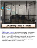 Raletta - Coworking In Indore