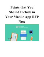 Points that You Should Include in Your Mobile App RFP Now