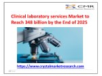 Clinical Laboratory Services Market to Reach Valuation USD 348 Billion by 2025 | Crystal Market research