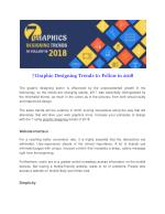 7 Graphic Designing Trends to Follow in 2018