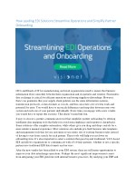 How Leading Edi Solutions Streamline Operations and Partner Onboarding
