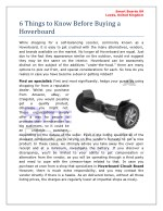 Things to Know Before Buying a Hoverboard
