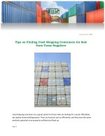 Tips on Finding Used Shipping Containers for Sale from Texas Suppliers