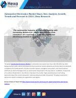 Automotive Electronics Industry Research Report