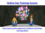 Which is the best online seo training course