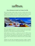 Finest of Relaxing Leh Ladakh Tour Packages from Delhi