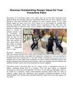 Discover Outstanding Design Ideas for Your Travertine Patio