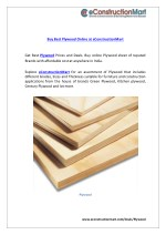 Buy best plywood online at e constructionmart