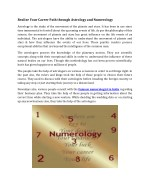 Realize Your Career Path through Astrology and Numerology
