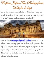 Explore Jaipur Tour Package from Delhi for 2 days