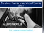 Clay Pigeon Shooting Prices from AA Shooting School, Dorset,UK