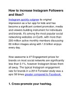 How To Increase Instagram Followers & Likes