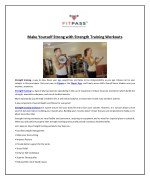 Make Yourself Strong with Strength Training Workouts