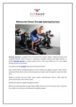 Witness the Fitness Through Spinning Exercises