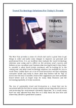 Travel Technology Solutions For Today's Trends