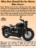 Why One Should Go for Motor Bike Tours?