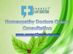 Homeopathy Doctors Online Consultation - Connect2mydoctor