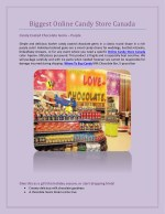 Biggest Online Candy Store Canada