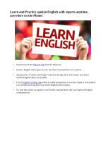 Learn English With Experts