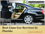 Limo Car Services In Florida