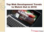13 Web Development Trends to Watch Out in 2018