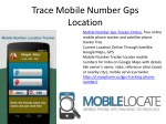 Trace Mobile Number Through Gps