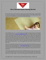 One of the best carpet cleaning services