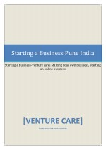 Starting a Business-Venture care| Starting your own business, Starting an online business