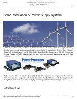 Solar Installation & Power Supply System