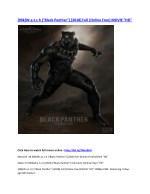 """{90k}W.a.t.c.h (""""Black Panther"""") [2018] FULL MOvIe STREAMING """"HD"""""""