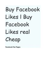 Buy Facebook Page Views & Likes Cheap Cost