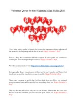 Valentines Quotes for him-Valentine's Day Wishes 2018