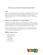 Why Toys are the Most Trending Thing for Kids?
