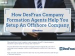 How DesFran Company Formation Agents Help You Setup An Offshore Company