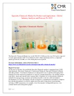 Specialty Chemicals Market- Global Industry Analysis and Forecast 2014-2023