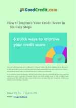 You maintain your good credit score
