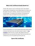 What Is SSL Certificate Actually Stands For?