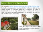 Luxury Resorts in Jim Corbett