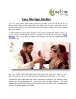 Love Marriage Solution |  Intercast Love Marriage Specialist | ( 91) 9982805585