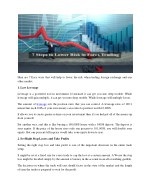 7 Step to Lower Risk in Forex Trading