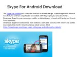 Skype For Android Free Download