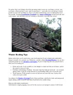 WINTER ROOFING TIPS