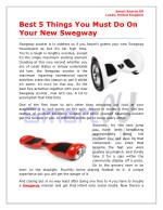 5 Things You Must Do On Your New Swegway