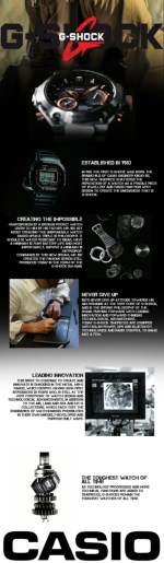 Casio G-Shock watches Infographic