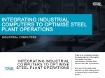 Integrating Industrial Computers to Optimise Steel Plant Operations