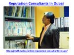 Get the best result of reputation consultants in Dubai